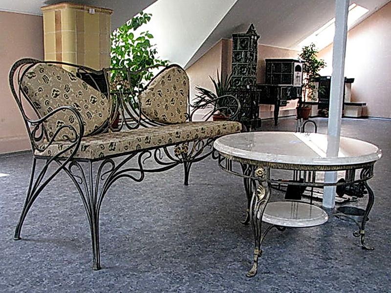 Кованый диван N 15021