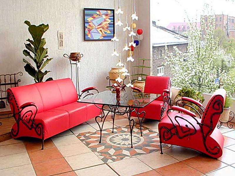 Кованый диван N 15022