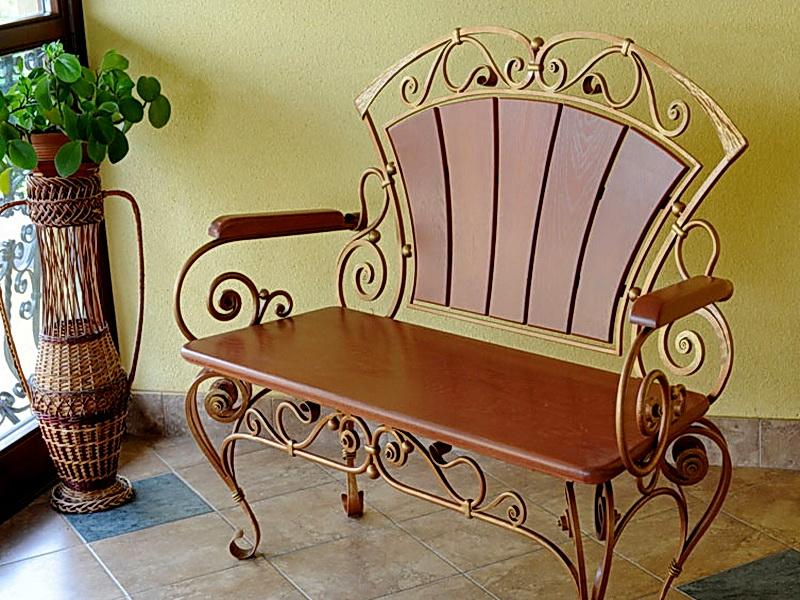 Кованый диван N 15023