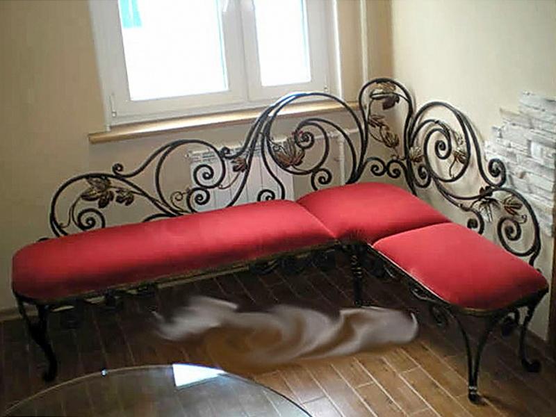 Кованый диван N 15029