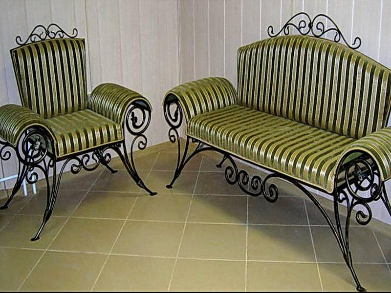 Кованый диван N 15033