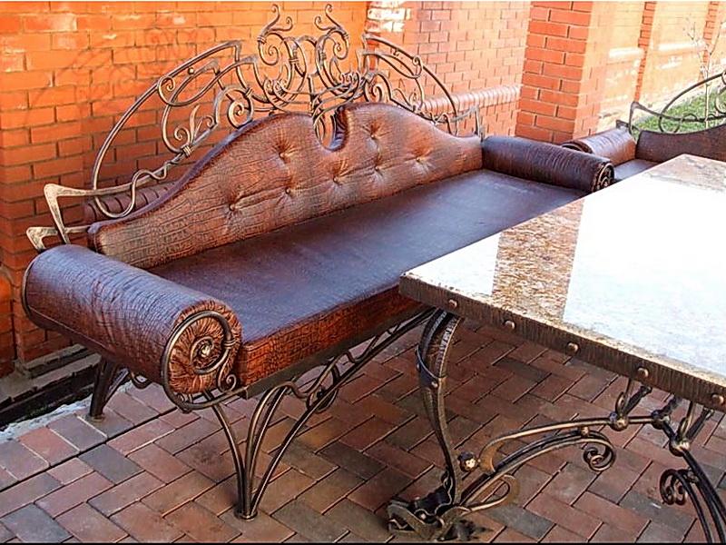 Кованый диван N 15044