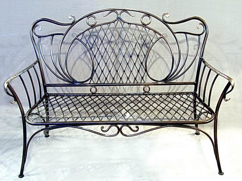 Кованый диван N 15056