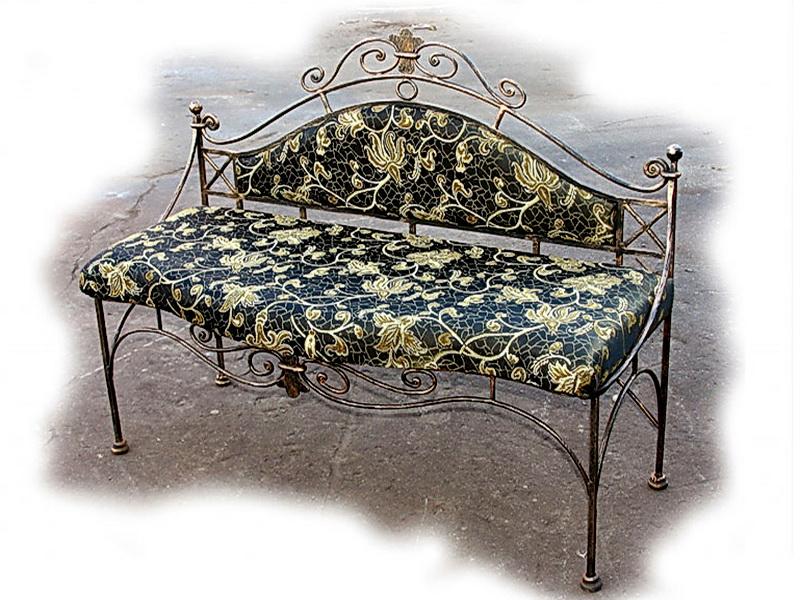 Кованый диван N 15057