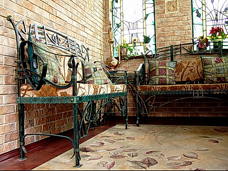 Кованый диван N 15059