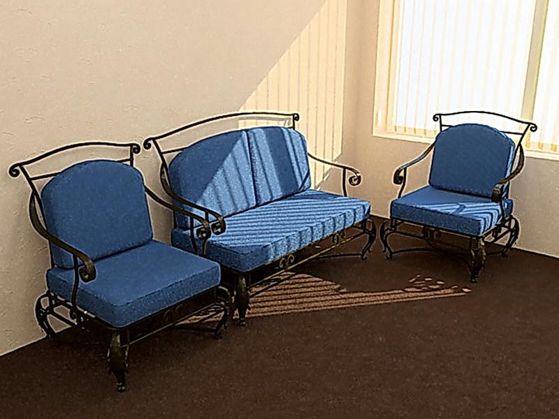 Кованый диван N 15064