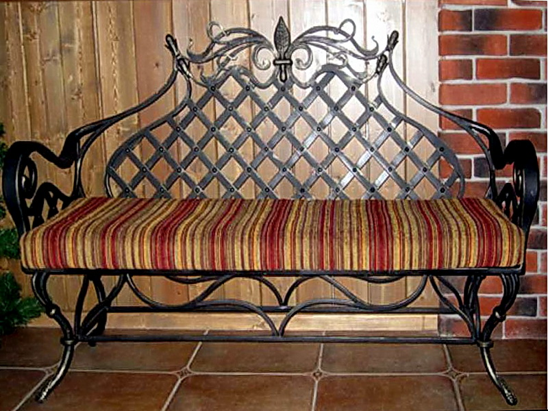 Кованый диван N 15071