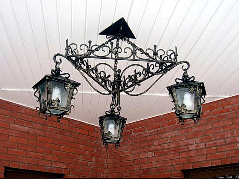 Кованый фонарь N 10007