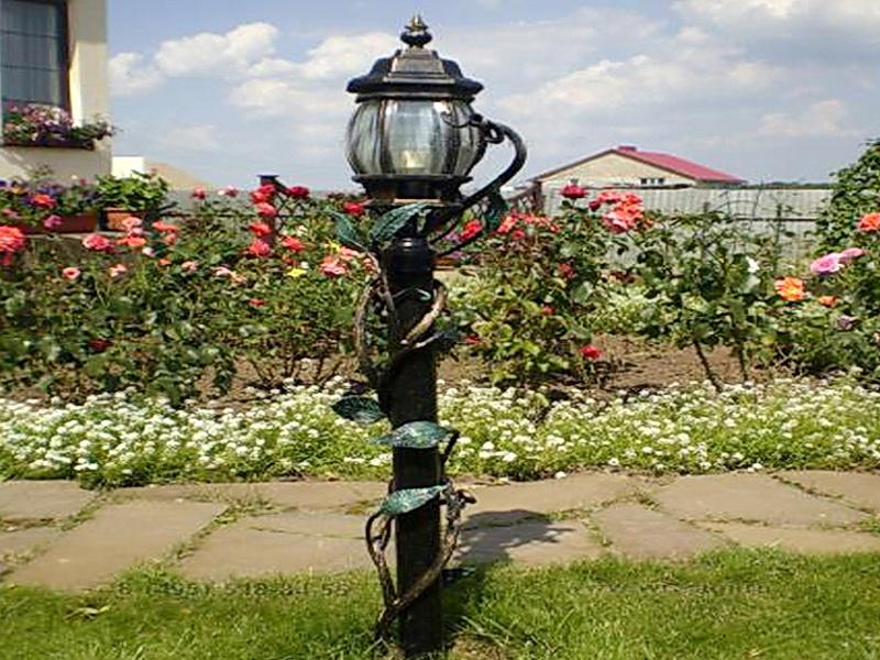 Кованый фонарь N 10011