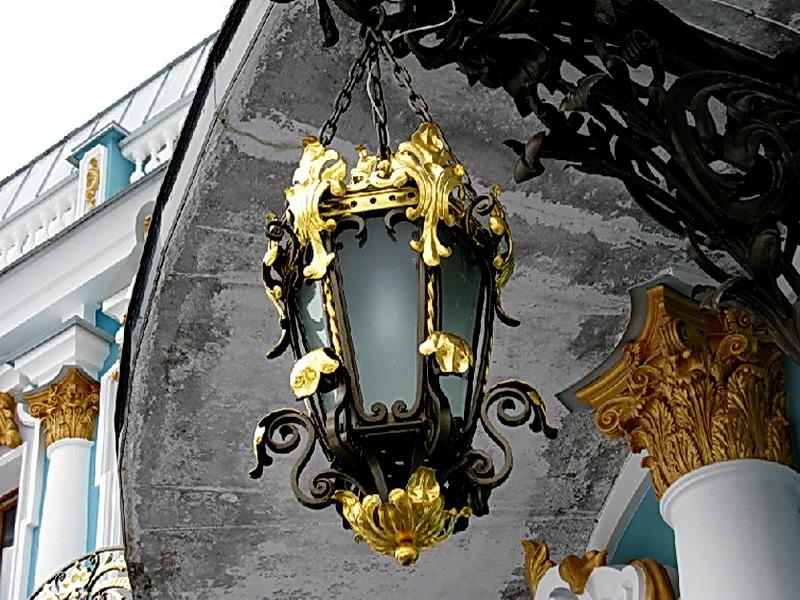 Кованый фонарь N 10013