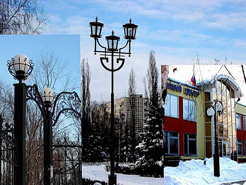 Кованый фонарь N 10030