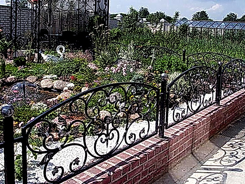 Кованые газонные ограждения N 4-4504