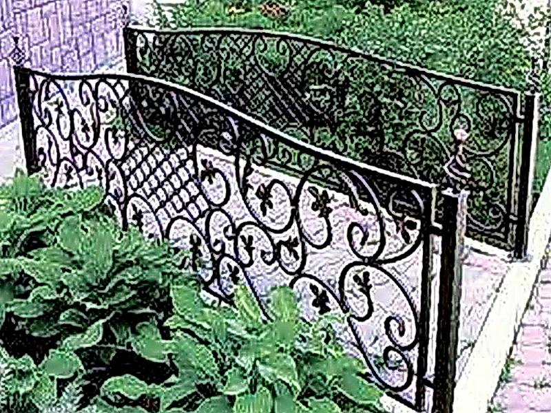 Кованые газонные ограждения N 4-4505