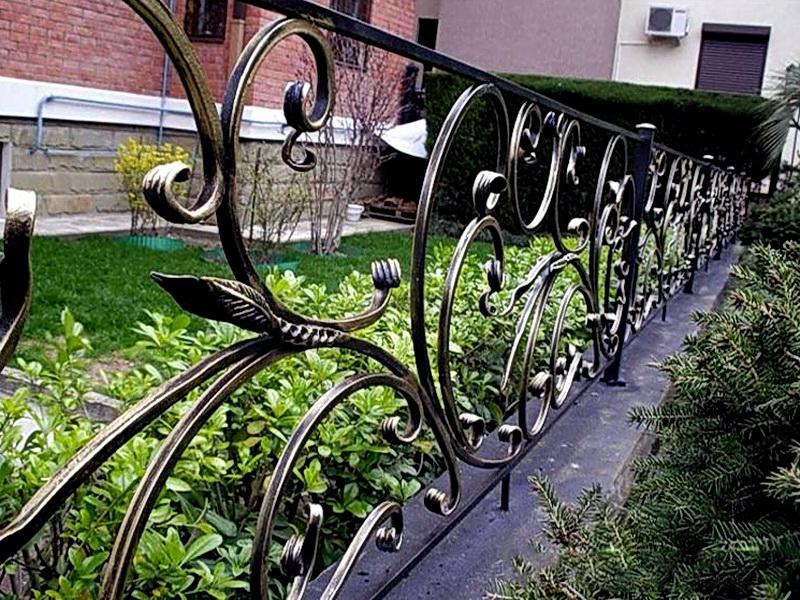 Кованые газонные ограждения N 4-4506