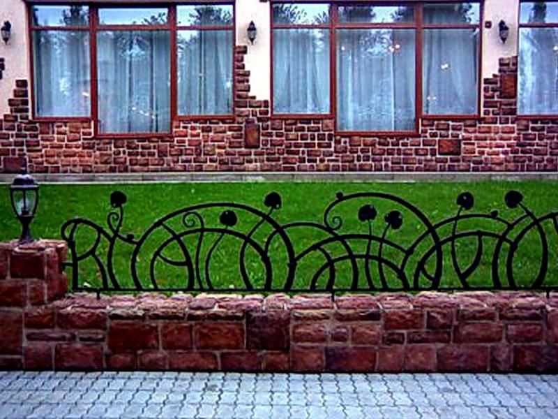 Кованые газонные ограждения N 4-4512