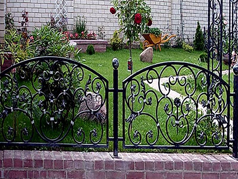 Кованые газонные ограждения N 4-4513
