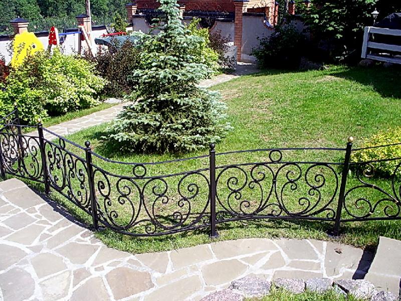 Кованые газонные ограждения N 4-4517