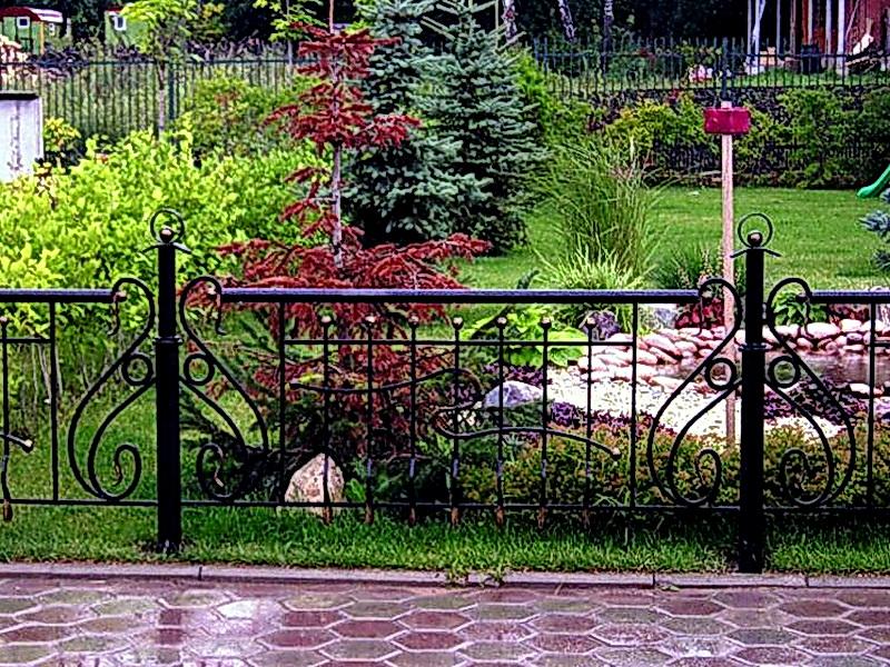 Кованые газонные ограждения N 4-4518
