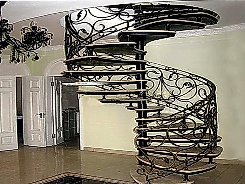 Кованая каркасная лестница N 3-4012
