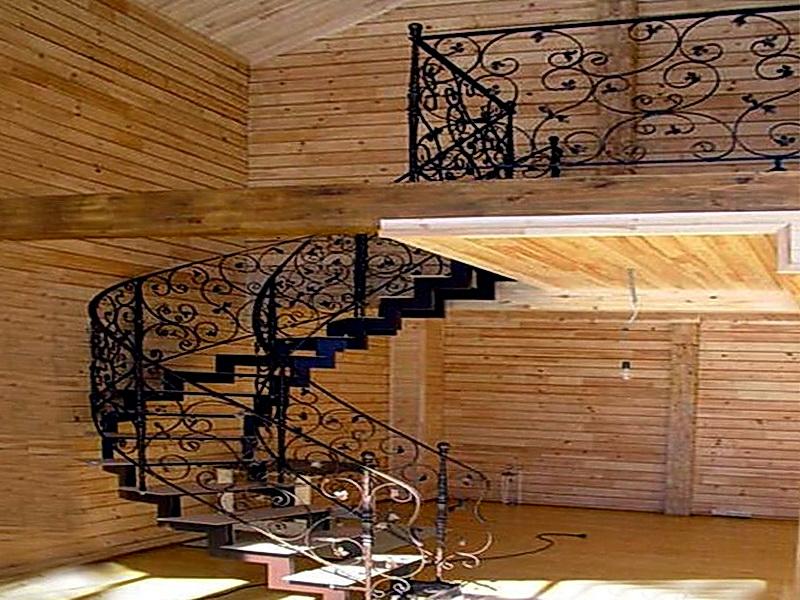 Кованая каркасная лестница N 3-4013