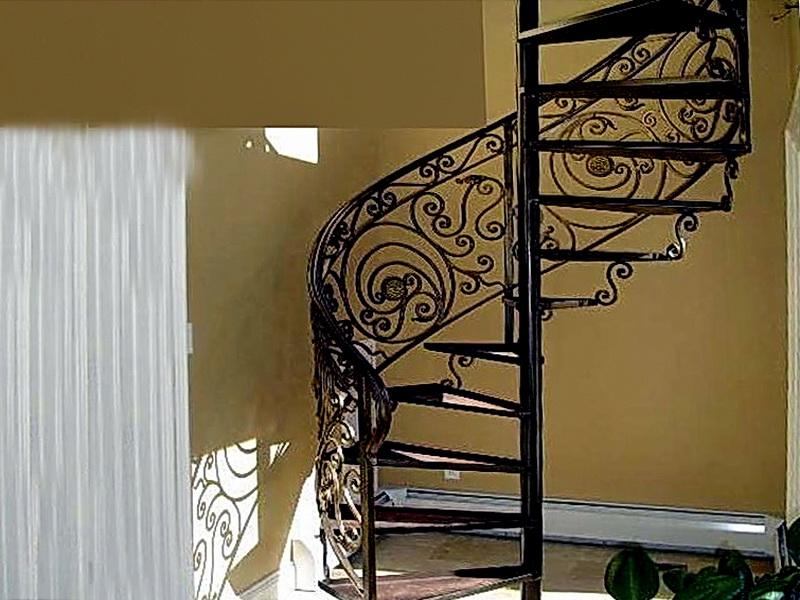 Кованая каркасная лестница N 3-4014