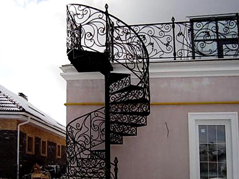 Кованая каркасная лестница N 3-4016