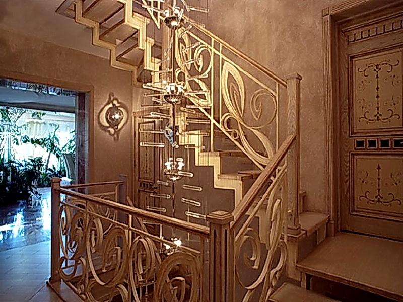 Кованая каркасная лестница N 3-4018