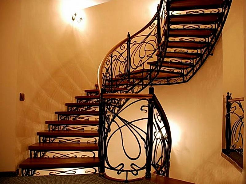 Кованая каркасная лестница N 3-4021