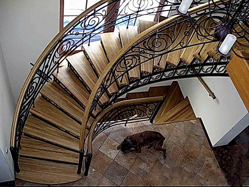 Кованая каркасная лестница N 3-4031