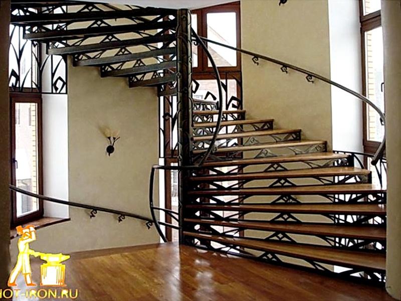 Кованая каркасная лестница N 3-4033