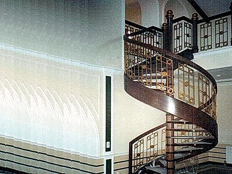 Кованая каркасная лестница N 3-4041