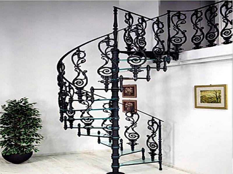 Кованая каркасная лестница N 3-4045