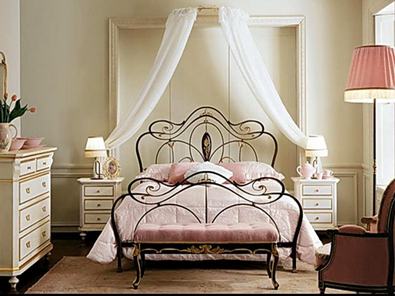 Кованая кровать N 10608