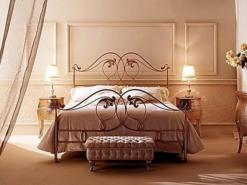 Кованая кровать N 10614