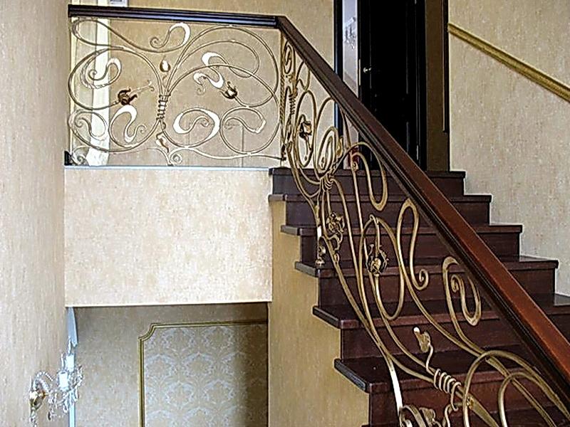 Кованые лестничные ограждения N 4-4004