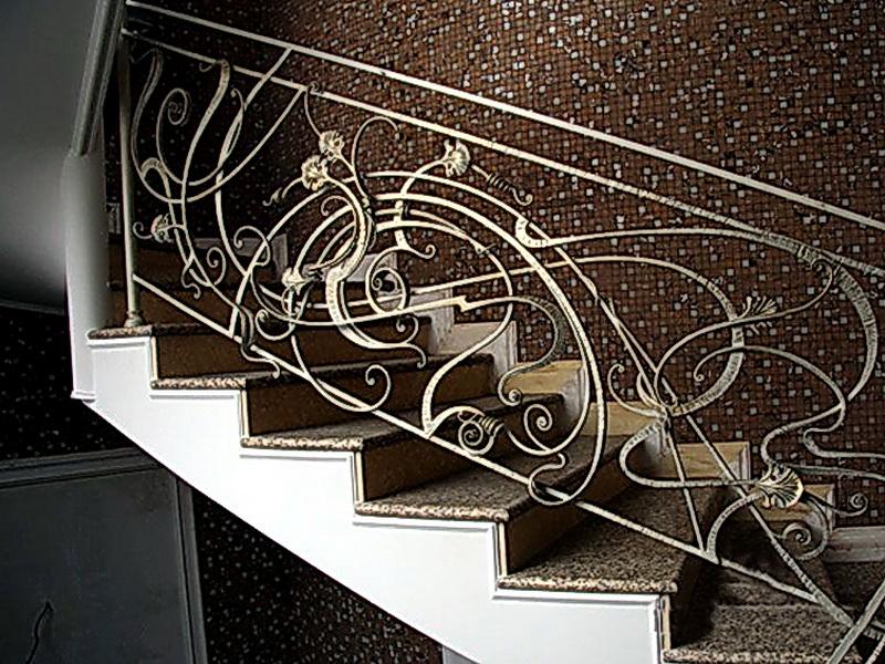 Кованые лестничные ограждения N 4-4011