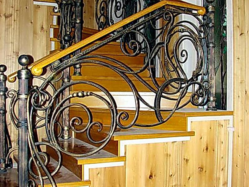 Кованые лестничные ограждения N 4-4012