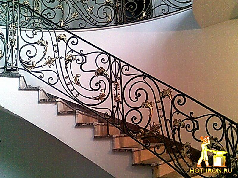Кованые лестничные ограждения N 4-4017