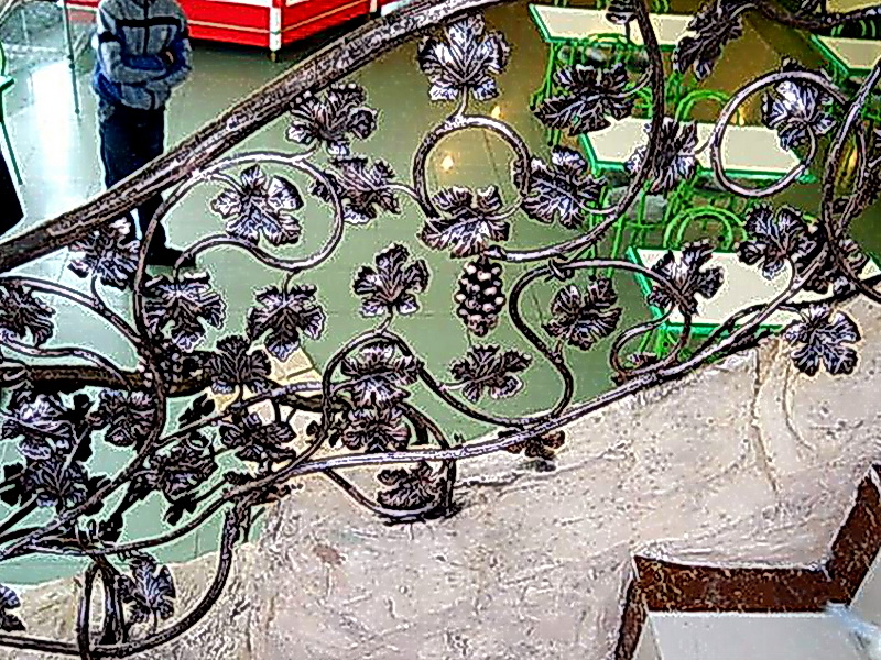Кованые лестничные ограждения N 4-4024