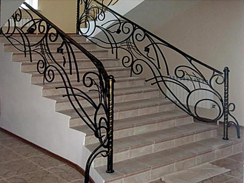 Кованые лестничные ограждения N 4-4029
