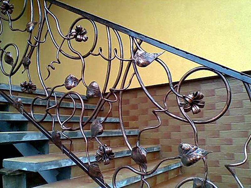 Кованые лестничные ограждения N 4-4033