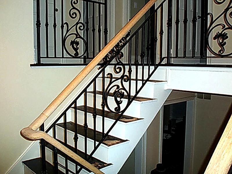 Кованые лестничные ограждения N 4-4044