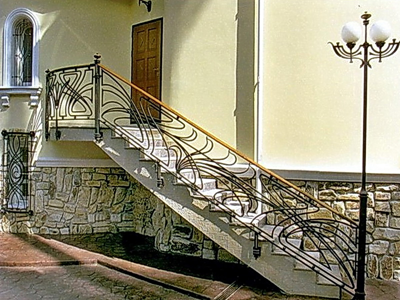 Кованые лестничные ограждения N 4-4050