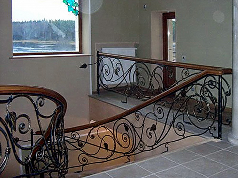 Кованые лестничные ограждения N 4-4051