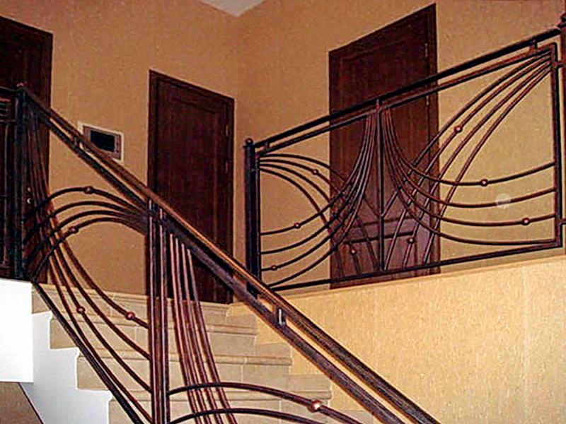 Кованые лестничные ограждения N 4-4053