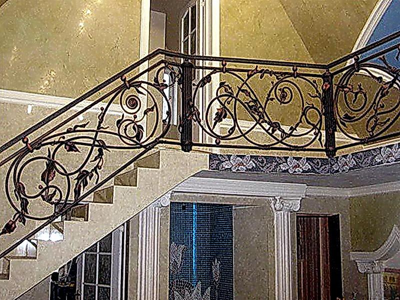 Кованые лестничные ограждения N 4-4055