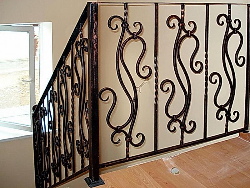 Кованые лестничные ограждения N 4-4057