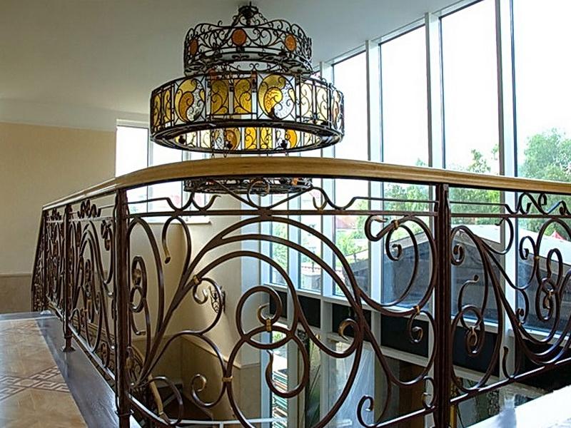 Кованая люстра, светильник N 10101