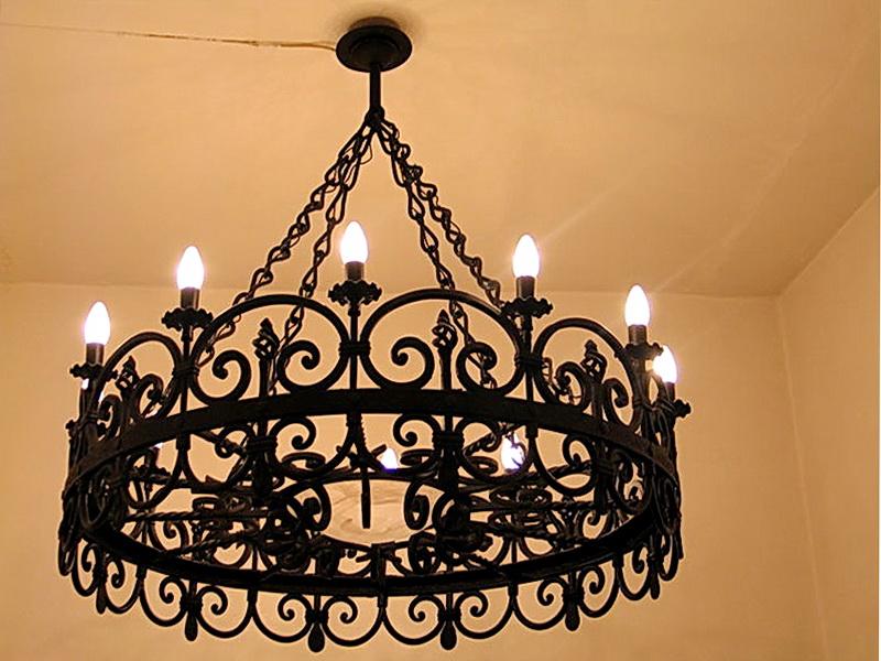 Кованая люстра, светильник N 10103