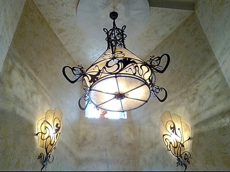 Кованая люстра, светильник N 10109